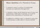 A narrative essay | Recurso educativo 37732
