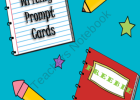 27 Writing Prompt Cards product from Mrs-_Ds_Corner on TeachersNotebook.com | Recurso educativo 93232