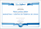 Curso de Marketing y ventas en tiempos de crisis | MasSaber | Recurso educativo 114104